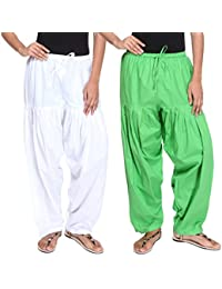 Teemoods Pack Of Two Womens Solid Cotton Salwars