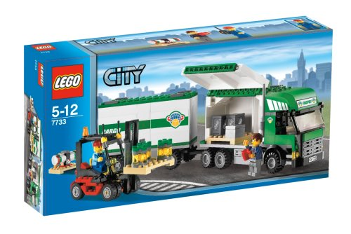 Lego - Truck with Fork-lift Truck - Lego 7733
