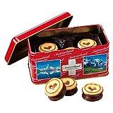 [スイスお土産] スイス ミニチョコクッキー 1缶 (海外 みやげ スイス 土産)