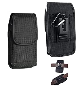 Amazon Com Black Tough Nylon Pouch Cell Phone Case Duty