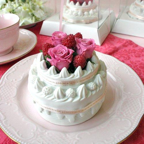 銀座花粋 スピード即日出荷&送料無料【完売商品を追加しました!】プリザーブドフラワー バラのデコレーションフラワーケーキ(ピンク)/誕生日・記念日・お祝い・結婚祝い・クリスマス・景品