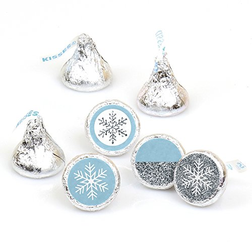 winter-wonderland-winter-wedding-party-round-candy-sticker-favors-labels-fit-hersheys-kisses-1-sheet