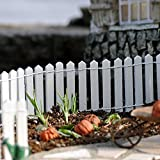 Miniature Fairy Garden White Wood Picket Fence, 18