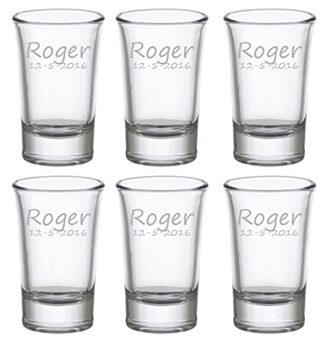 Gifts Infinity® Personalized Set of 6 SHot Glasses Free Engraving Groomsman and Bridesmaid Gift