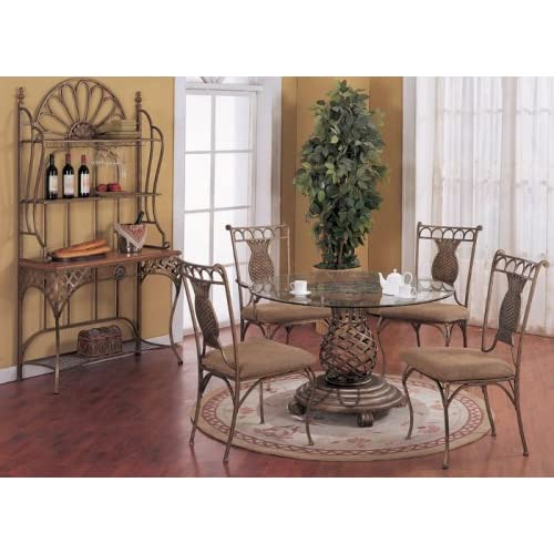 designed wrought iron table chairs set dining room furniture sets