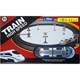 Elektra High Speed Metro With Round Track Battery Operated Train (silver) Toys For Kids