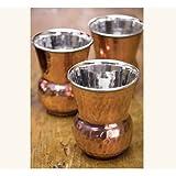 Napa Style Hand Pounded Bottega Copper Tumbler - Four Tumblers by NapaStyle