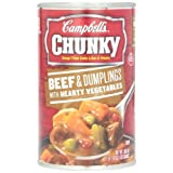 Campbell's Chunky Beef & Dumplings with Hearty Vegetables Soup, 18.8 Ounce Cans (Pack... by Campbell's