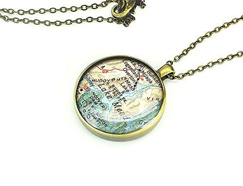 hecho-a-mano-de-1949-mapa-del-lago-mead-collar-joyas-para-ella-hermana-de-la-madre