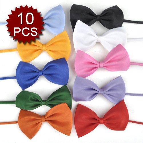 (Price/10 Pcs)GOGO Dog Holliday Bow Tie Collar, Wedding Collar, 7