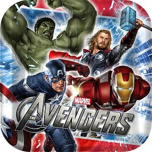 Avengers Square Dessert Plates Party Accessory - 1