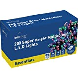 Brite Ideas Festive 200 Multiaction LED Lights, Multicolour