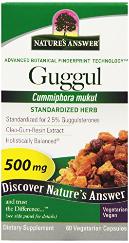 Nature's Answer Guuggul Extract Vegetarian Capsules, 60-Count