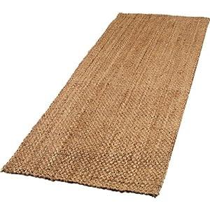 essentialz living boucle jute floor runner rug 200x60cm