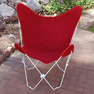 Scarlet Red Replacement Cover For Retro Folding Butterfly Chair