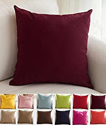 TangDepot Cotton Canvas Throw Pillow Cover -  Handmade - Many Colors Avaliable (18\