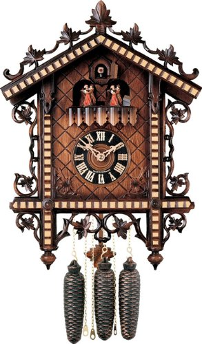River City Clocks MD807-17 Eight Day Musical Cuckoo Clock with Dancers, 1880'S Reproduction, 17-Inch Tall