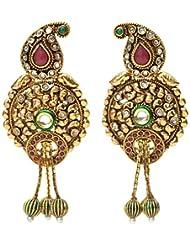 New Choice Shape Single Red Stone And Kundan Dangler Earring For Women