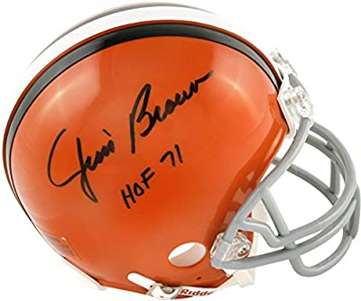 Jim Brown Cleveland Browns Autographed Riddell Mini Helmet with HOF 71 Inscription - Fanatics Authentic Certified