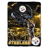 NFL Pittsburgh Steelers 60-Inch-by-80-Inch Plush Rachel Blanket, Sky Helmet Design