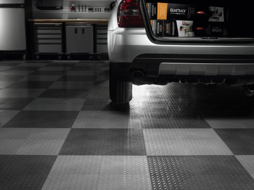 Black Floor Tile 24 Pack Floor Parking Mats Automotive Parts