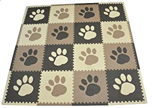 Tadpoles 16 Sq Ft Pawprint Playmat Set from Sleeping Partners