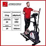 Sportstech CX630 Profi Crosstrainer Elliptical inkl. Pulsgurt mit elliptischem Bewegungsablauf