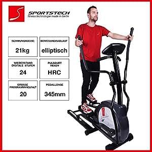 Sportstech cx630 v lo professionnel avec mouvement de course elliptique mass - Velo elliptique professionnel ...