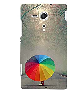 Fuson 3D Printed Designer back case cover for Sony Xperia SP - D4379