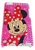 [WG] MINNIE MOUSE Apple iPod Touch 4th Generation 4G iTouch 4 Full Diamond Rhinestones Bling Jeweled BACK PIECE Protector Case + FREE WirelessGeeks247 Detachable Neck Strap / Lanyard