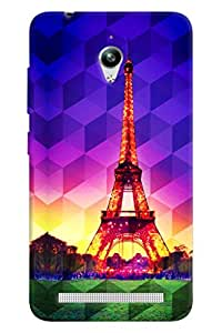 Clarks Eiffil Tower Prism Hard Plastic Printed Back Cover/Case For Asus Zenfone Go (ZC500TG)