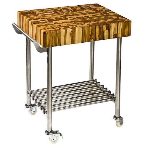 Proteak 701 Butcher Block Kitchen Cart