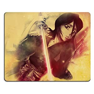 Bleach Rukia Cosplay Mouse Pads Anime Game Manga Comic ACG Customized Made to Order Support Ready 9 7/8 Inch (250mm) X 7 7/8 Inch (200mm) X 1/16 Inch (2mm) High Quality Eco Friendly Cloth with Neoprene Rubber Woocoo Mouse Pad Desktop Mousepad Laptop Mousepads Comfortable Computer Mouse Mat Cute Gaming Mouse_pad
