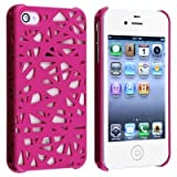 MKT TM_Hot Pink color- Bird Nest Rear Case / Skins / Cover For Apple iPhone 4 / iPhone 4S each in PolyBag