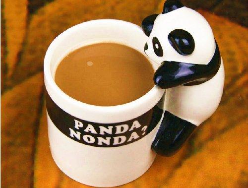 Moyishi 3D Little Lovely Cute Panda Design Office Mug Coffee Milk Ceramic Mug Cup Pen Case Best Gift
