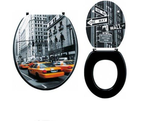 mormome abattant lunette wc toilette city new york multicolore. Black Bedroom Furniture Sets. Home Design Ideas