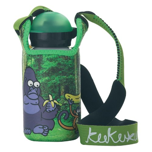 Laken-Kukuxumusu-Kids-Trinkflasche-mit-Hit-Sport-Trinkverschluss-350ml-Mono-mit-Neopren-berzug