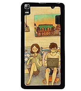 Printvisa living room scene of a couple Back Case Cover for Lenovo K3 Note