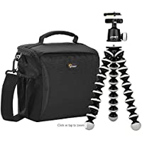 Lowepro/Joby Format 160 Camera Bag & GorillaPod Tripod (Black)