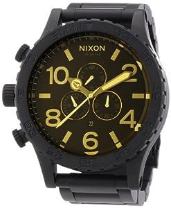 Nixon 51-30 - Reloj unisex de acero inoxidable recubierto negro
