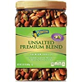 Planters Unsalted Premium Quality Blend Nuts with Cashews, Almonds, Pecans, Brazil Nuts, Peanuts and California Pistachios