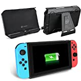 Switch Battery Charger Case by Zover 8000mAh Extended Travel Charge Stand Portable Battery Backup Power Bank for Nintendo Switch 2017