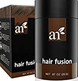 Art Naturals Hair Fusion - Dark Brown - Hair Building Fibers to fill Thinning, Sparse or Balding Areas - Made of natural, colored Keratin Fibers that blend undetectable into existing hair
