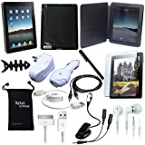 DigitalsOnDemand 15-Item Accessory Bundle for New Apple iPad 2 2nd Gen 2G Tablet / Wifi 3G model 16GB, 32GB, 64GB (2nd Generation)