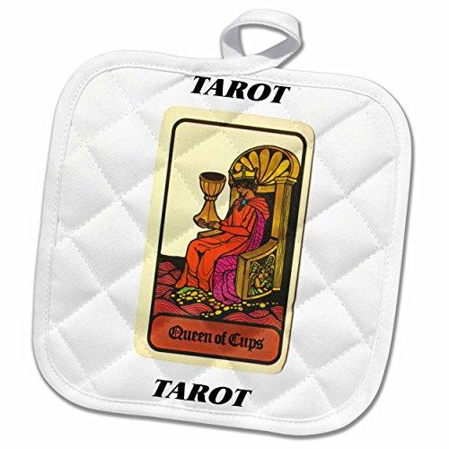 3dRose Florene Tarot Cards - Queen Of Cups - 8x8 Potholder (phl_34737_1)