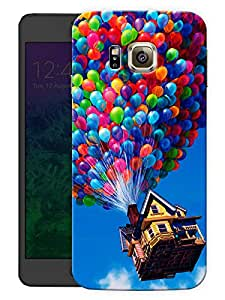 "Humor Gang House In The Air Printed Designer Mobile Back Cover For ""Samsung Galaxy Alpha"" (3D, Matte, Premium Quality Snap On Case)"
