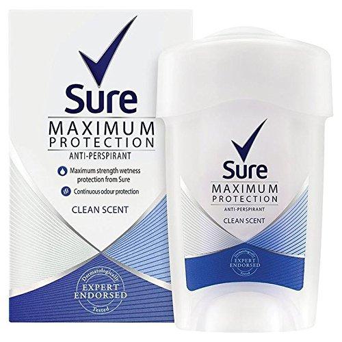 La Massima Protezione Sicuro Donne Profumo Di Pulito Crema Anti-Traspirante Deodorante 45Ml (Confezione da 4)