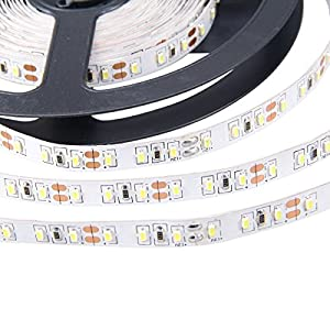 XKTTSUEERCRR 3014 SMD 16.4Ft 5Meter 300LEDs 60Leds/M Warm White High Density Flexible Non-Waterproof Strip Lighting for Christmas Halloween Decoration