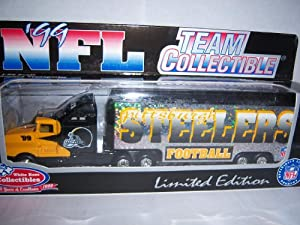 Pittsburgh Steelers 1999 NFL White Rose Diecast Kenworth Tractor Trailer 1/80 Scale Truck Collectible Football Team Car