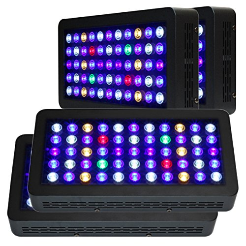 Promotion, Wholesale Price! 4Pcs Oceanrevive Full Spectrum Dimmable 55*3W 120W Led Aquarium Light Lamp 3W Leds Fixture Lighting For Grow Coral Reef Fish Seaweed Saltwater Tank Panel With 90 Degree Lens